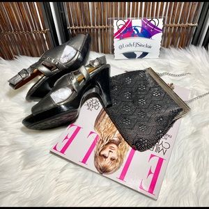 Euro-soft Pewter heels💄size 8💋gently preloved💄